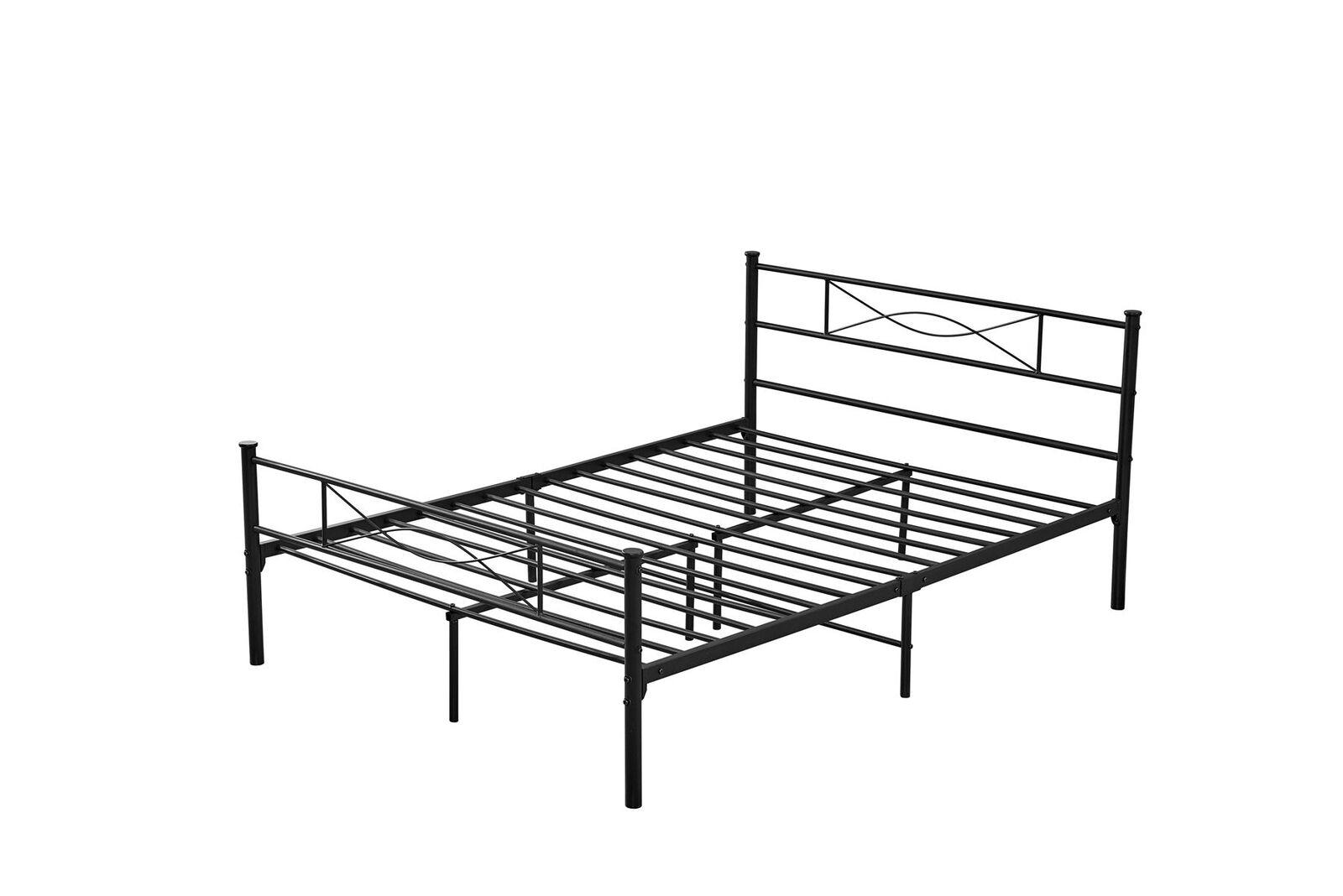 Solid Metal Bed Single Double King Frame Kitchenscraft
