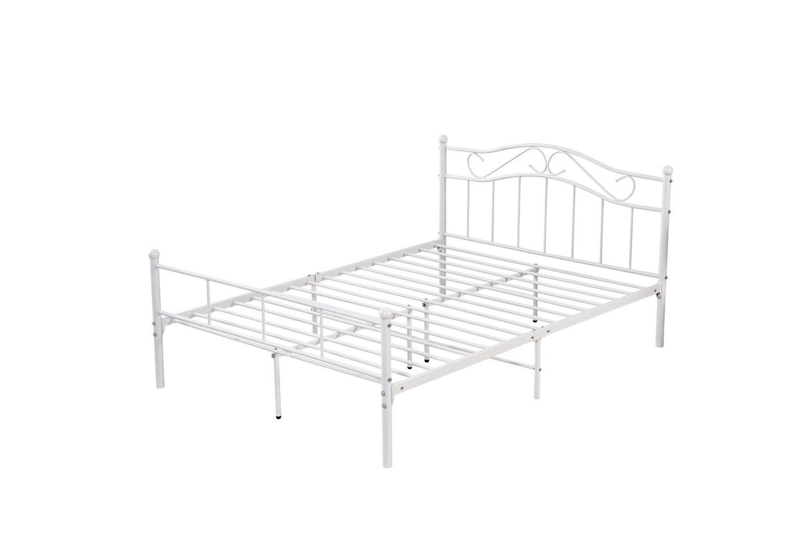 Solid Metal Bed Frame Single Double King Kitchenscraft